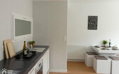 El cartón, una solución imaginativa para vender o alquilar tu casa vacía