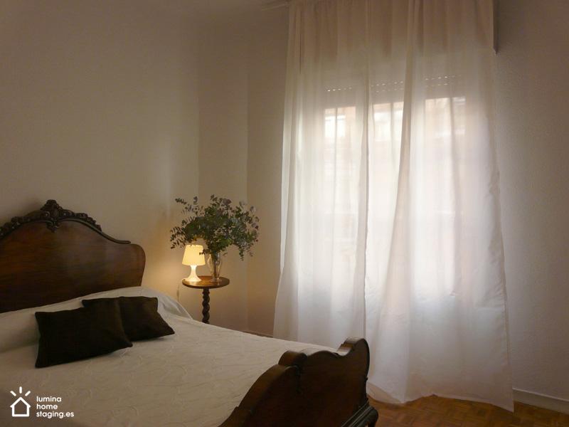 Quitando los objetos personales transforma este dormitorio en un estancia tranquila y acogedora