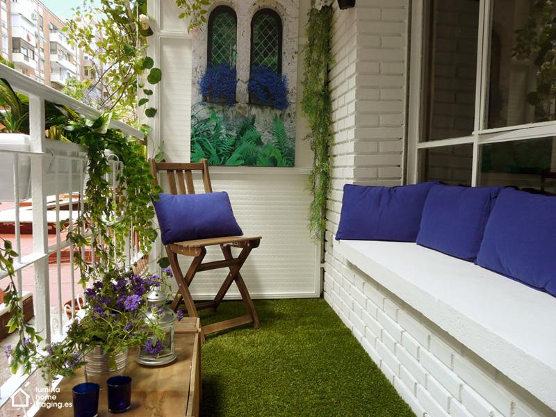 La terraza ahora es lo que llama la atención en esta vivienda: un sitio donde nos podemos relajar, tomar el sol y disfrutar