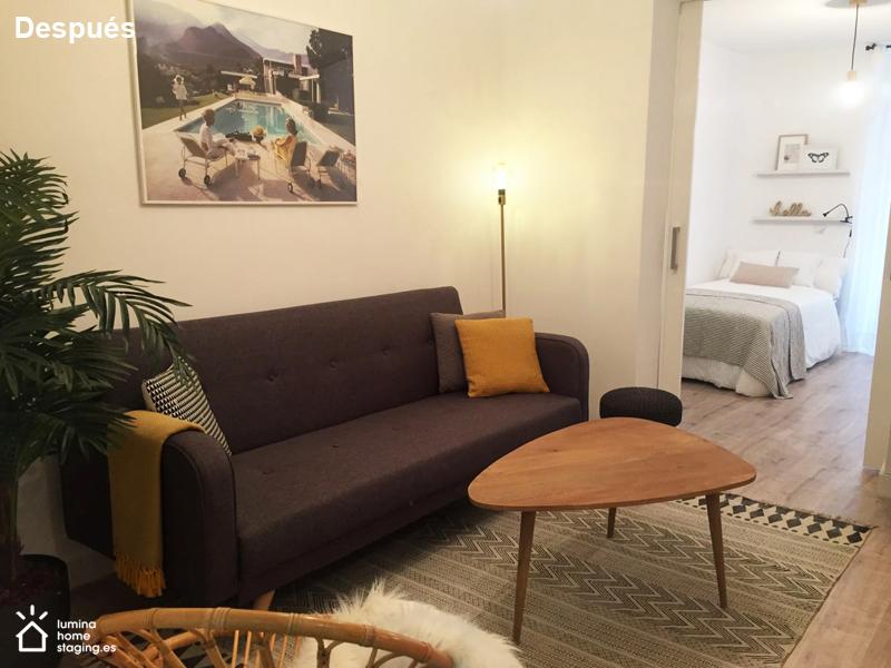 Con muebles modernos y funcionales, se consigue un ambiente cálido y hospitalario