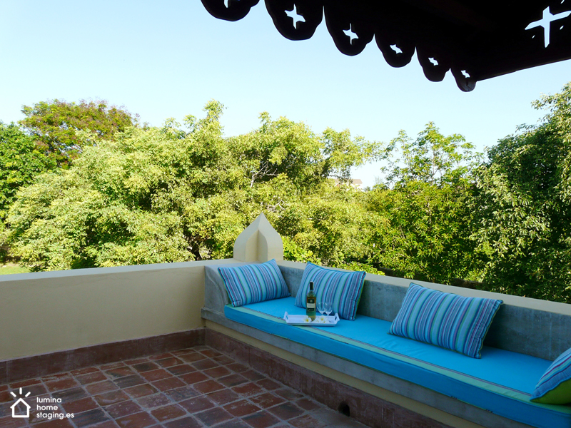 Una terraza donde conversar