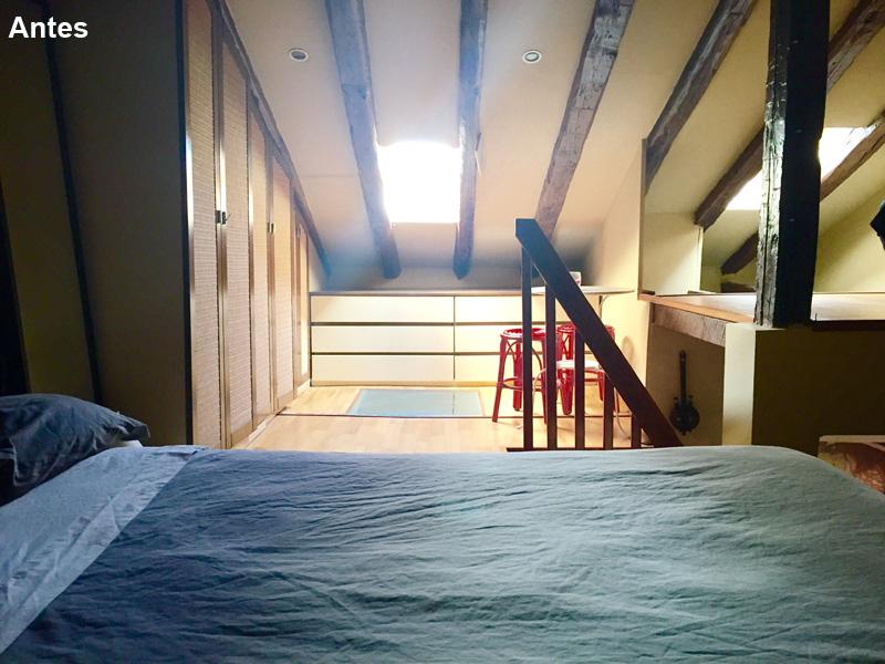 Dormitorio arriba 1 antes. Los colores y su armonia son importantes