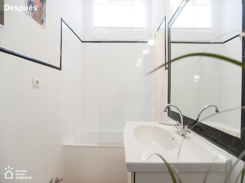 Baño después. Su efecto es claro y beneficioso