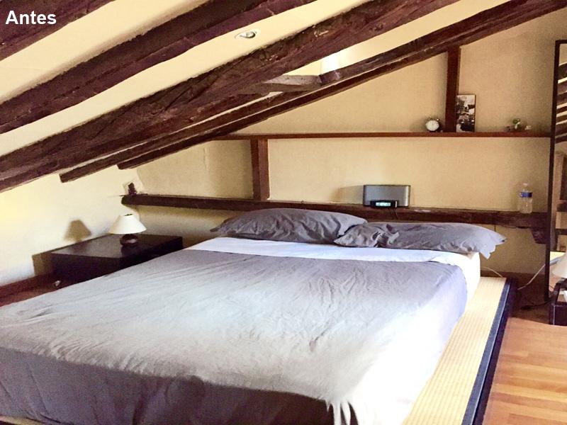 Dormitorio arriba 3 antes. Los detalles son la diferencia...