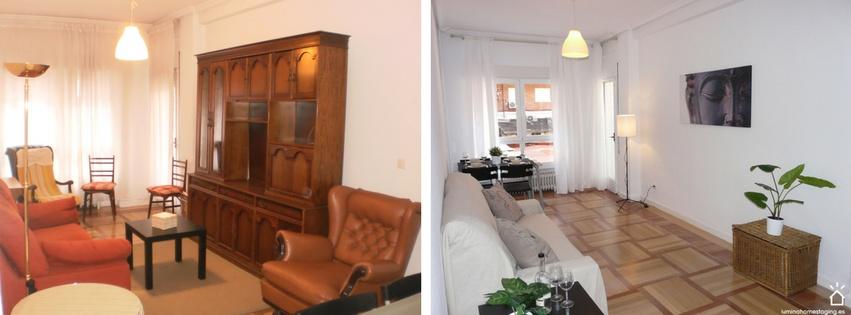 ¿Cuál de los dos pisos te gustaría visitar para su posible compra? ¿El piso con los muebles antiguos o bien el piso despejado y lleno de luz?