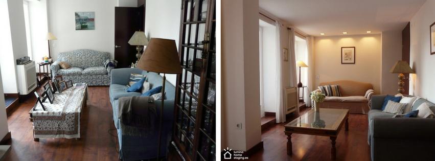 Está claro, en la primera foto la casa está de rebajas y en la segunda foto, se presenta la nueva colección.