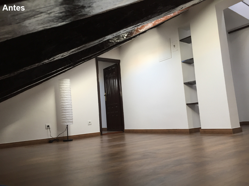Salón antes parece que no hay espacio suficiente