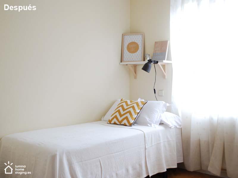 Con pintura y nueva ropa de cama consigues el efecto luminoso