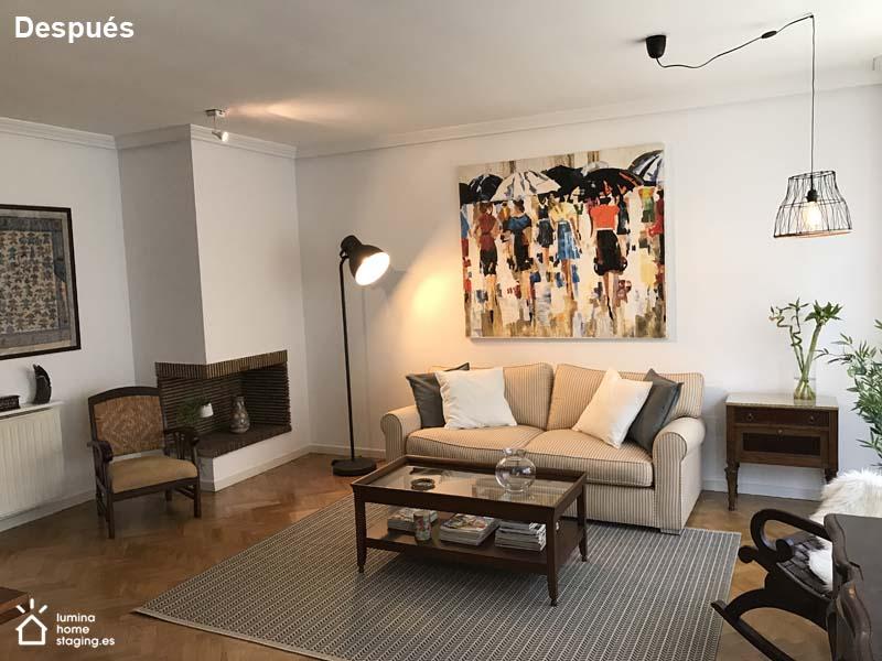 El cambio de pintura aporta otra imagen al salón