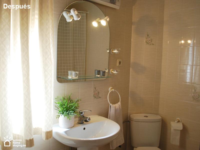 Baño después. Un baño limpio y ordenado es la imagen que atrae.