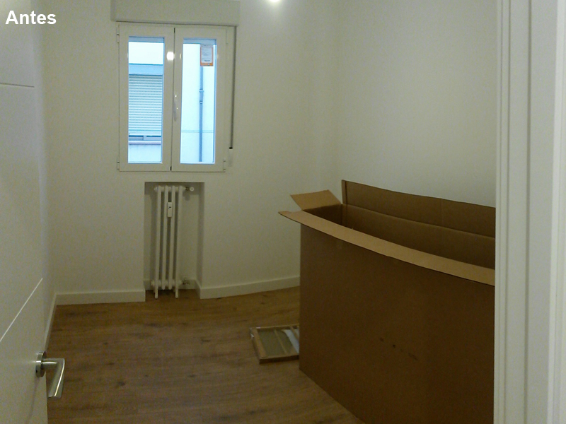 Dormitorio antes. Las habitaciones tienen una función que cumplir