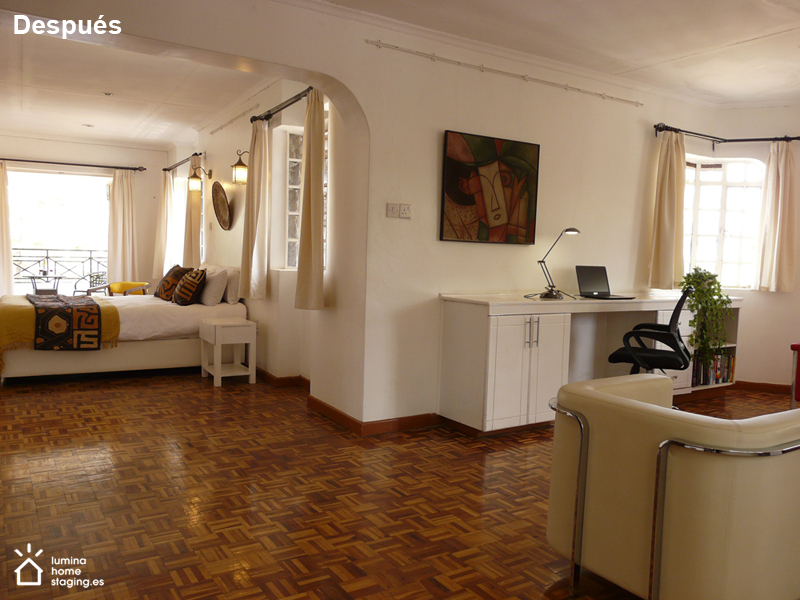 Una habitación  suite donde cada espacio tiene su función