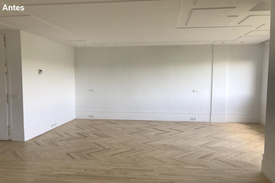 1 Un salón amplio, es lo único que se aprecia al estar vacío