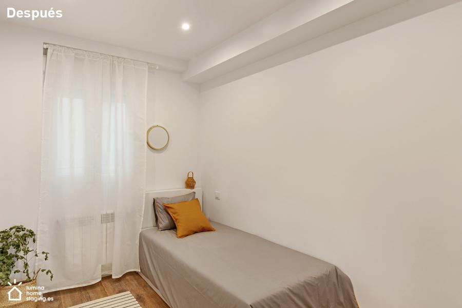 Dormitorio después. Crear un dormitorio intimo, marca la diferencia