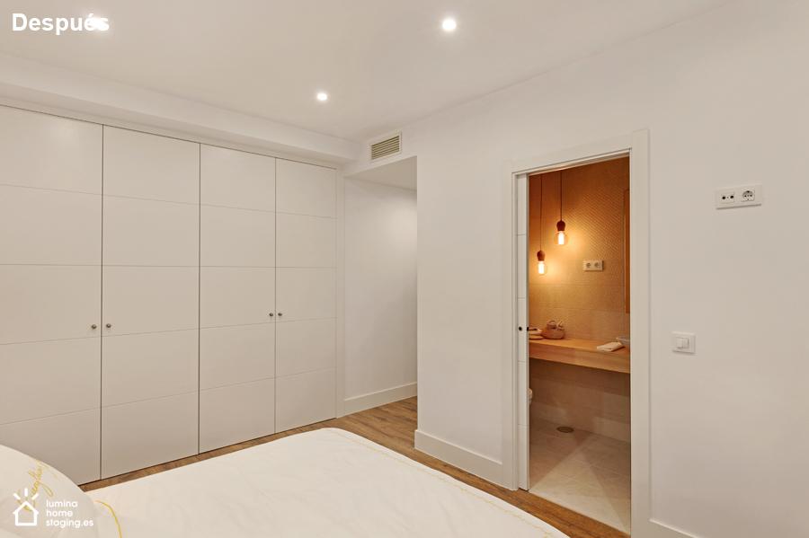 Dormitorio principal después. Mostrando sus cualidades, dormitorio en suite y con armarios