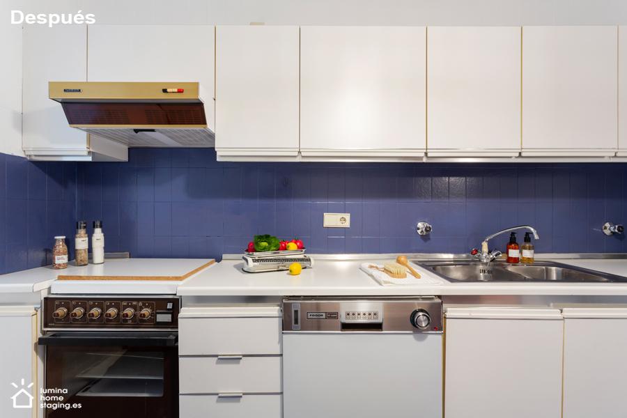Una imagen actual en una cocina de antes